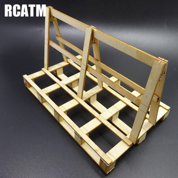 Glass Transport Wooden Frame Support Model Scene Decoration For Tamiya 1/14 RC Truck Tipper Scania Actros RC Crawler TRX4 SCX10 image