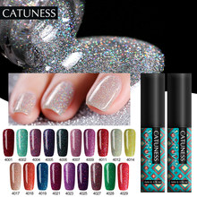 Catuness Varnish Semi Permanen Warna Keberuntungan 19 Warna Neon Glitter Gel Cat Kuku Tahan Lama Rendam Off Panjang tahan Sinar UV Gel(China)
