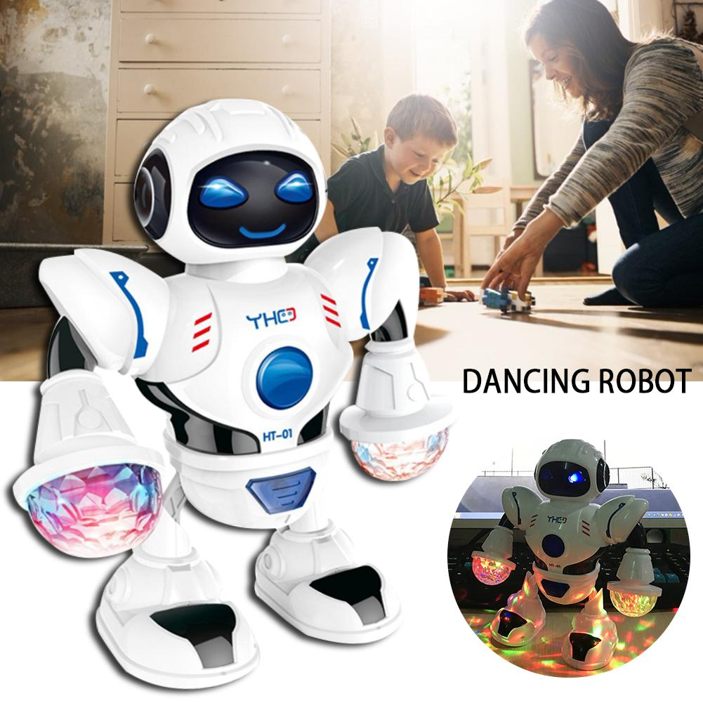 Newest High Quality Intelligent Robot Toy LED Light Music Electric Dancing Robot Toy For Kids