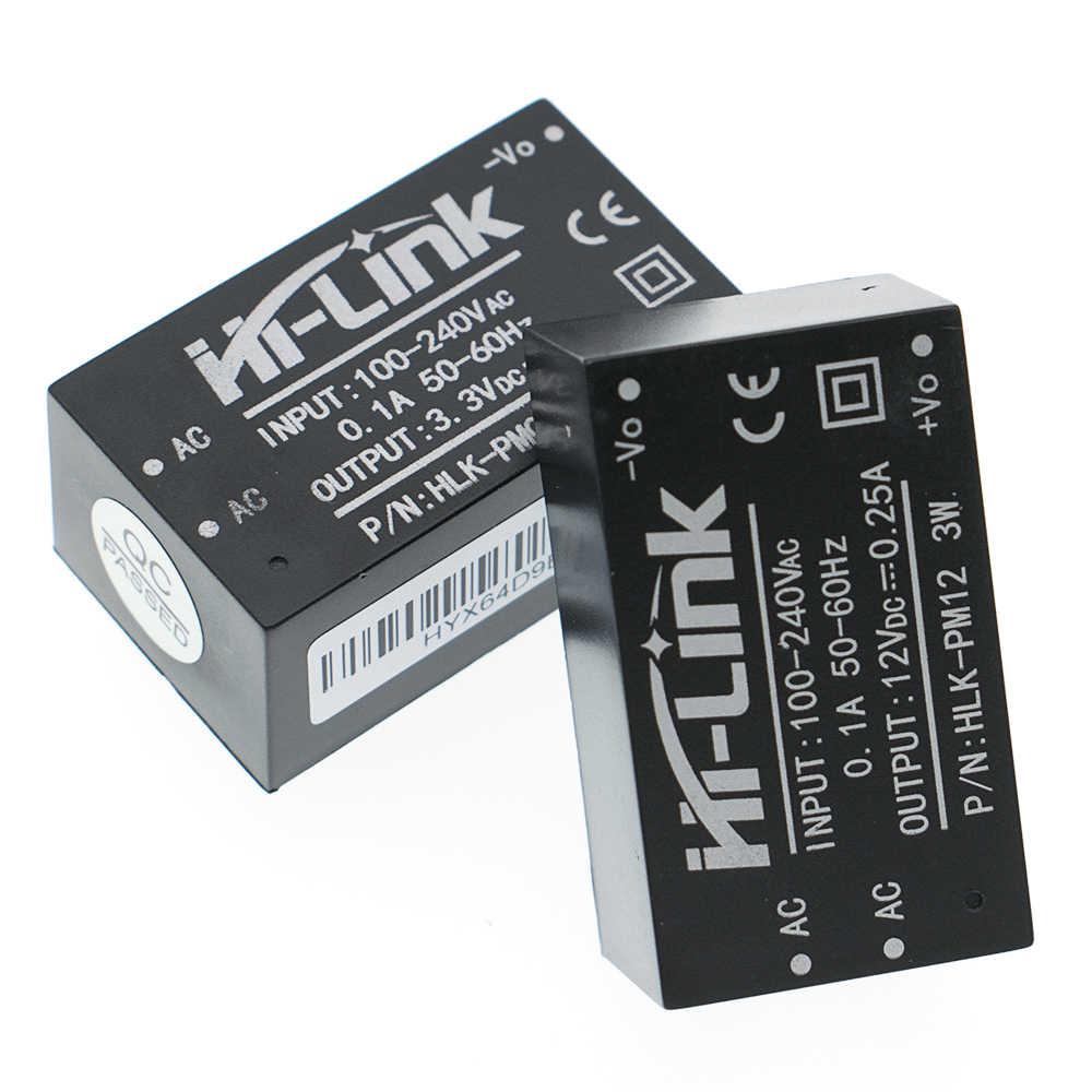 Новый HLK-PM01 HLK-PM03 HLK-PM12 AC-DC 220V 5 V/3,3 V/12 V Мини модуля питания, интеллигентая (ый) бытовой переключатель блока питания