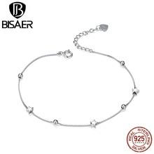 Star Pulseira BISAER 925-Sterling-Silver Dazzling Star & Bea