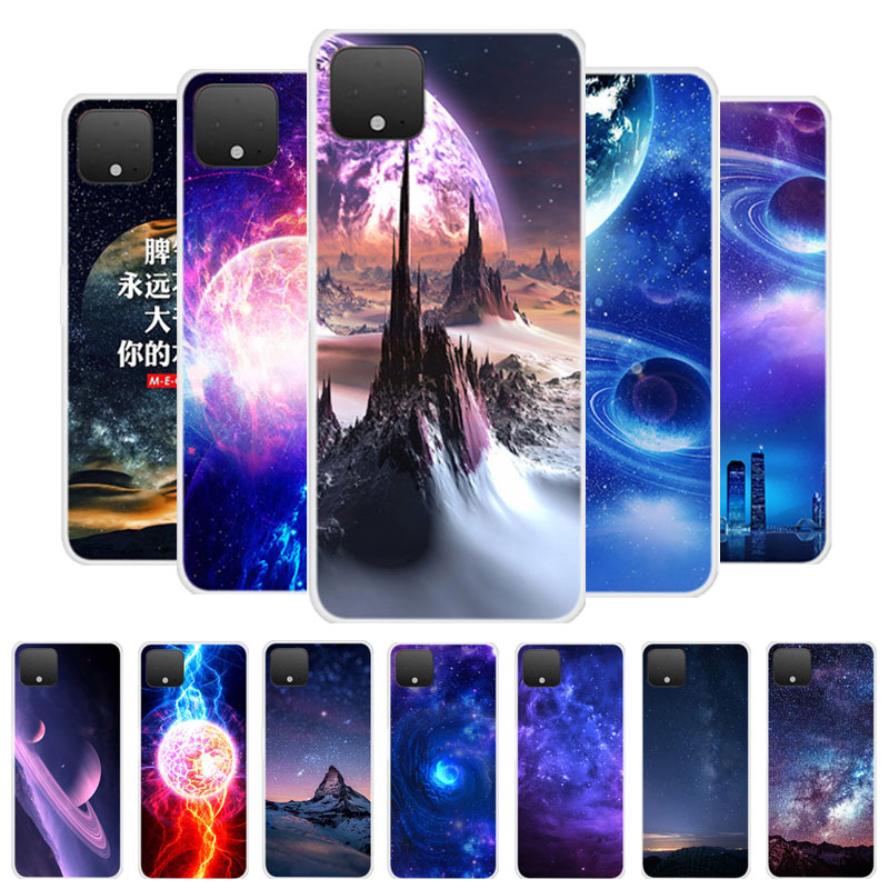 For Pixel 4 XL Case Google Pixel 4XL Case Silicone Planet Soft TPU Back Protective Case For Google Pixel 4 Pixel4 XL Phone Cover