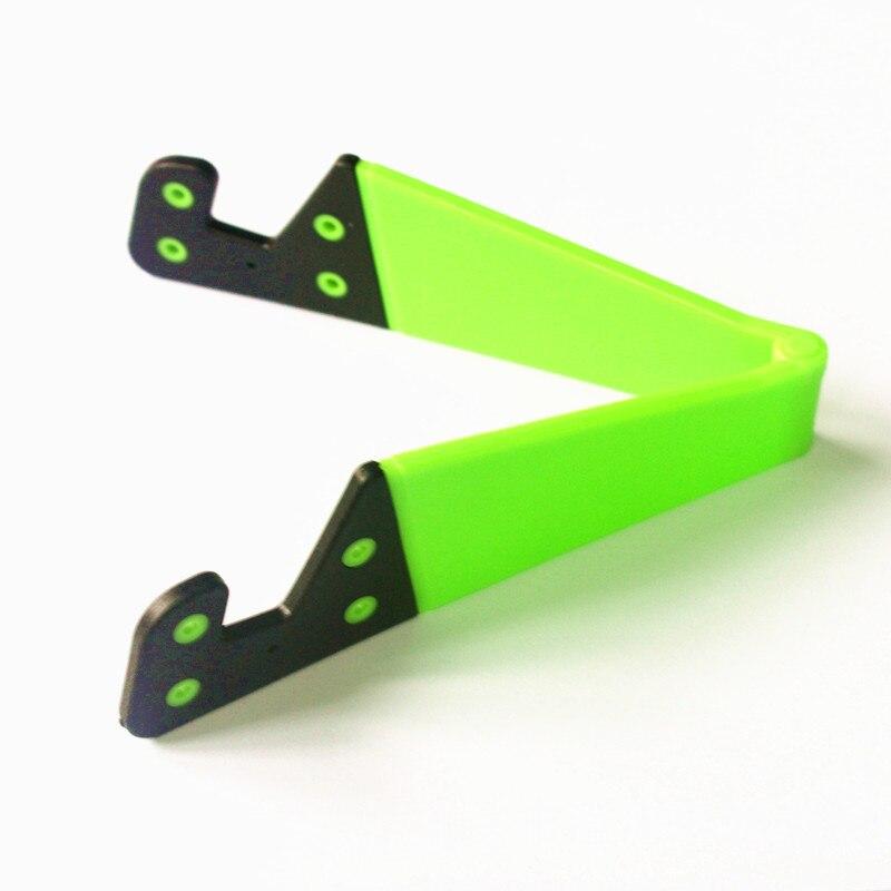 V-образная универсальная Складная подставка для мобильного телефона, держатель для смартфона и планшета, регулируемая поддержка, держатель для телефона, высокое качество - Цвет: Зеленый