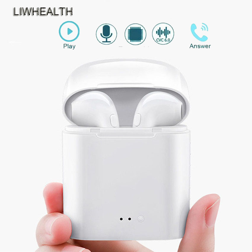 Tws I7S Bluetooth Earphones Mini Wireless Earbuds Sport Handsfree Earphone Headset With Charging Box For Iphone/Xiaomi PK I9/I12
