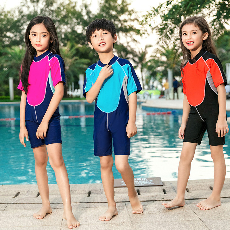 KID'S Swimwear One-piece GIRL'S And BOY'S Athletic Baby Big Boy Swimwear Students Men And Women Children Hot Springs Tour Bathin