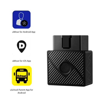 Mini Plug Play OBD GPS Tracker Car GSM OBDII Vehicle Tracking Device OBD2 16 PIN interface china gps locator with Software & APP image