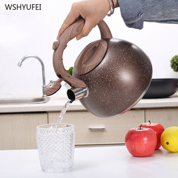 3L Outdoor Camping Stainless Steel star Whistling Kettle Water Kettles Induction Cooker Whistle Tea Water Pot Home Kitchen