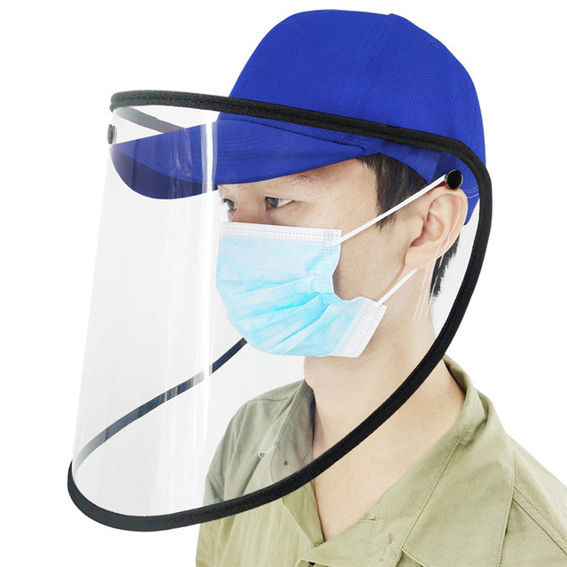 2020 Protective Hats Anti-saliva and Anti-spray Protective Cap Removable Baseball Cap with Transparent Face Shield Men Women 2