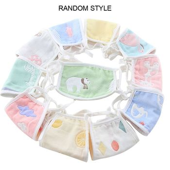 1pc Cute Cartoon Washable Reusable Children's Cotton Mask for Boys Girls Prevent Flu Facial Masks Protective Face Mask