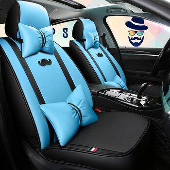 Pełne pokrycie eko-skórzane pokrowce na siedzenia samochodowe siedzenie samochodowe ze skóry PU pokrowce na vw amarok beetle fusca caddy gol