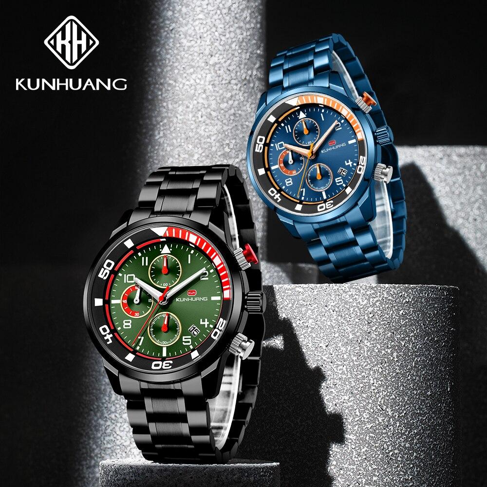 Marca de Topo Relógios de Moda Relógio de Quartzo Relógio de Pulso Homens Bussiness Chronograph Relógio Militar Masculino