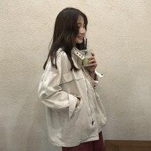 Workwear jacket female new loose bf baseball uniform Korean student casual