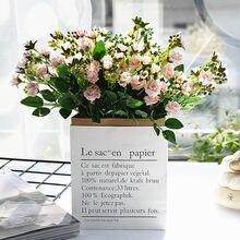 20 Mini Roses artificielles Avec Tige, 5 fourchettes, pour décoration de mariage, maison, salon
