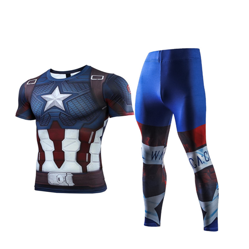 Compression Men's Sport Suits Quick Dry Running sets High Quality Clothes Joggers Training Gym Fitness Tracksuits MMA Rashguard 2