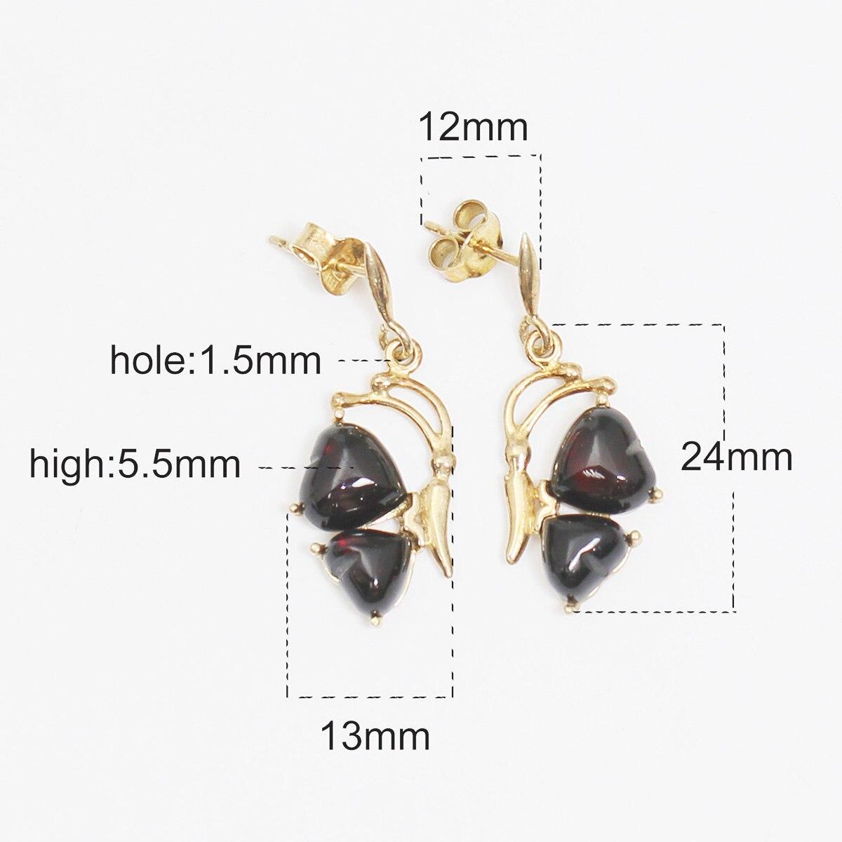 Beadsnice ID39759 or rempli boucle d'oreille fête des mères cadeau bijoux boucles d'oreilles pour les femmes - 2