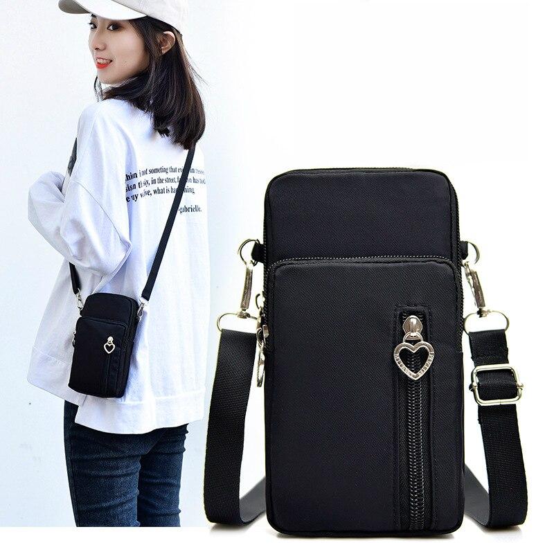 Woman Wallet Pouch Mini Shoulder Zipper Bag Girls Coin Purse Wallets Pocket Women Messenger Money Bags Cards Holder Lady Purses