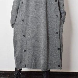 Image 5 - XITAO Taste Dekoration Gestrickte Casual Kleid Frauen 2019 Winter Grau Koreanische Mode Neue Stil Rollkragen Kragen Gerade GCC2040