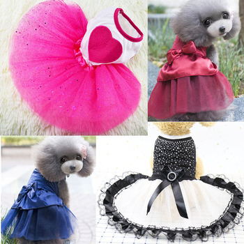 New Tutu Dog Dress Lace Cute Pet Cat Princess Apparel Clothes Party Skrit for and Supplies