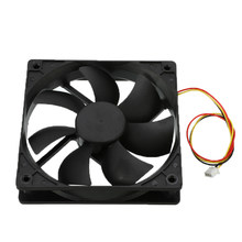 Universal DC 12V 3 Pin Cooling Fan 3 Lines Plastic Cooling Cooler PC CPU Fans Airflow For Computers 120mm x 120mm x 25mm(China)