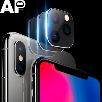 Acespower Tempered Glass Protector for iPhone X XS MAX Seconds Change Into 11PRO 11 Pro Max Camera Metal Frame Cover for Fun