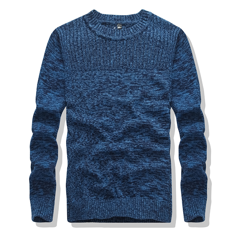 Hot Pullover 100% Cotton O-Neck Sweater 2019 Winter Black Men's Long Sleeve Official New Arrival And Homme Sweater Casual 3XL