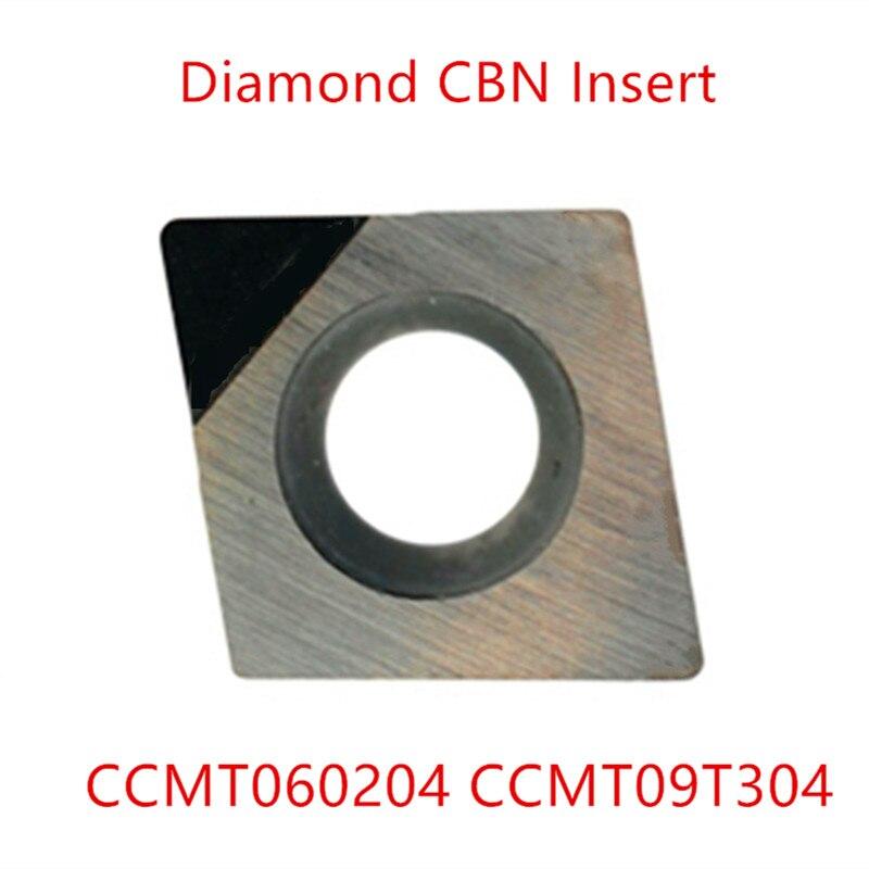 2pcs Diamond PCD Ccmt060204 Inserts Cut Tools Ccmt060202 Ccmt 09t304 Ccmt 120408 Milling Internal Turning Tools Lathe Cutter