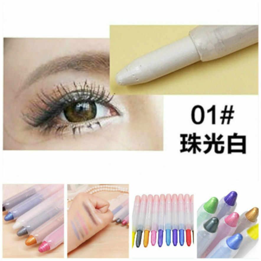 Sexy białe oko cień w piórze cień do powiek perłowy makijaż brokat Pigment Smoky paleta cieni do oczu wodoodporne kosmetyki cień do powiek