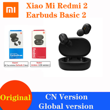 Original Xiaomi Airdots 2 Redmi Airdots S Global Version TWS Wireless Earphone 5.0 Noise Reduction Tap Control Gaming Headset