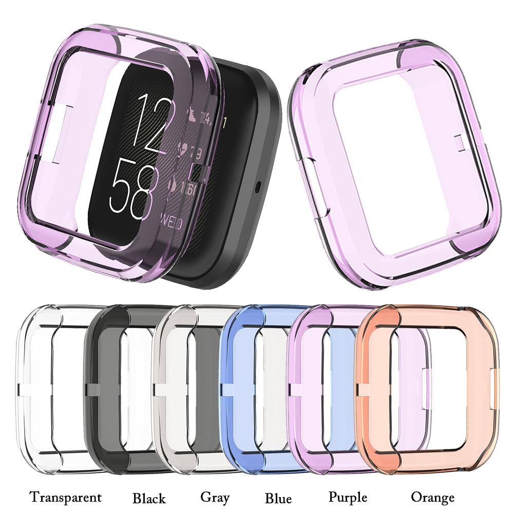 Protect Case For Fitbit Versa 2 Replacement Colorful Soft TPU Protective Case Cover Shell Frame For Fitbit Versa 2 Smart Bracele
