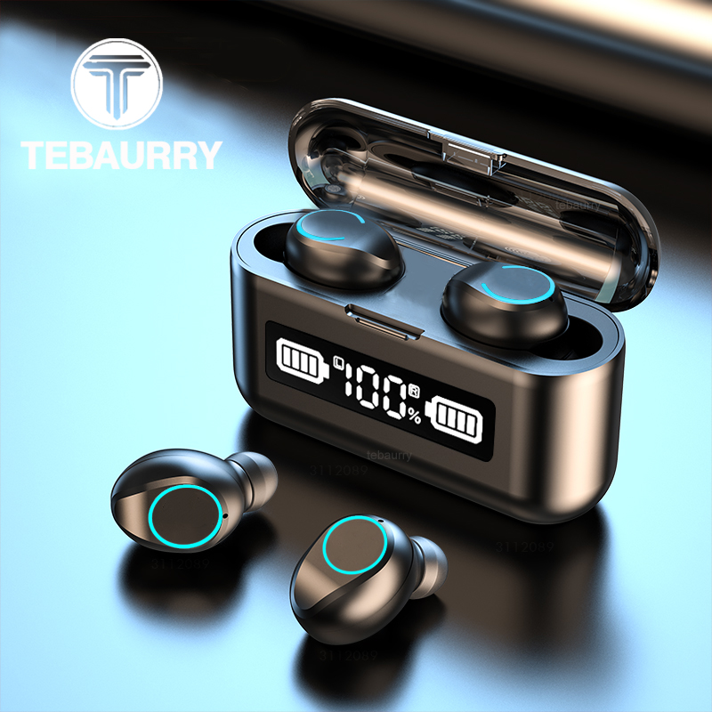 TWS Bluetooth Earphone Wireless Headphones Stereo Sport Wireless Earphones Touch Mini Earbuds waterproof with Microphone 2000mAh