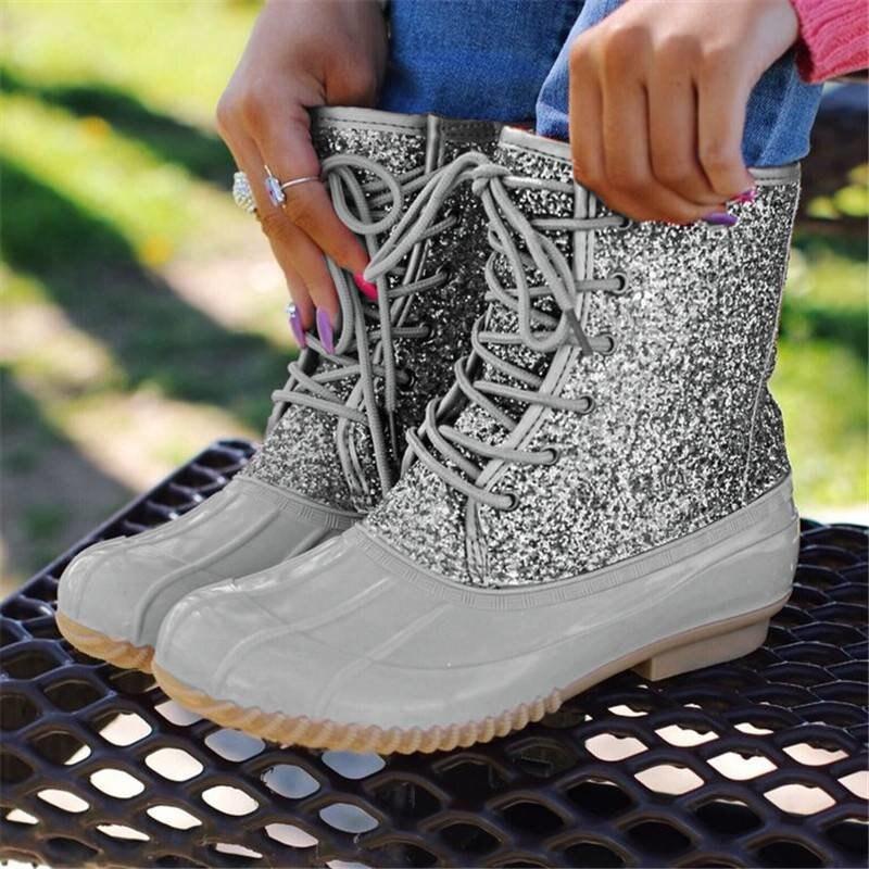 Women-s-Boots-Lady-Duck-Boot-With-Waterproof-Zipper-Rubber-Sole-Women-Rain-Boots-Lace-Up (2)
