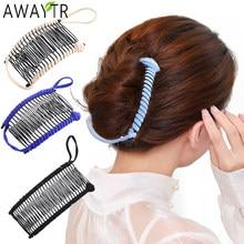Horquillas de pelo de plátano para mujer, peine perezoso, accesorios elásticos para el cabello, pinza profesional para el cabello, inserto de peine, agarres mágicos para el cabello