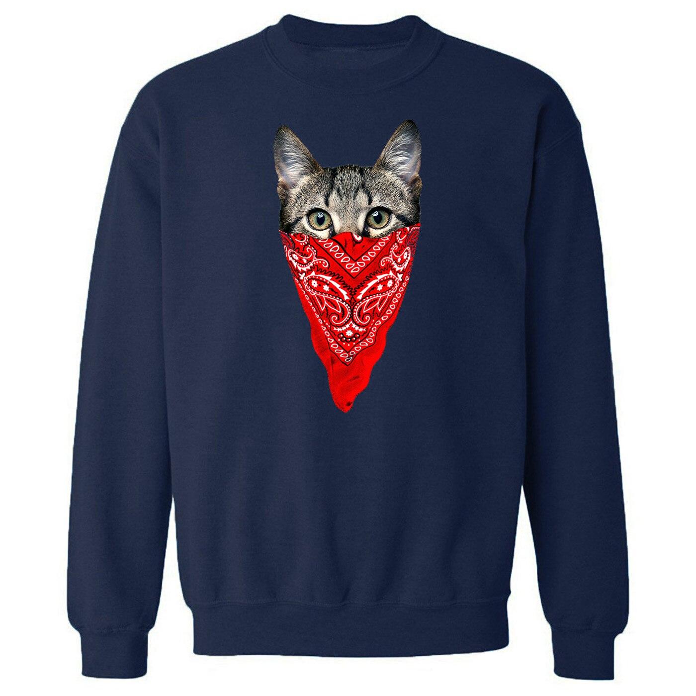 Funny Cat 2019 New Autumn Winter Men Sweatshirts Hip Hop Hoody Cartoon Fashion Harajuku Print Streetwaer Leisure Long Sleeve