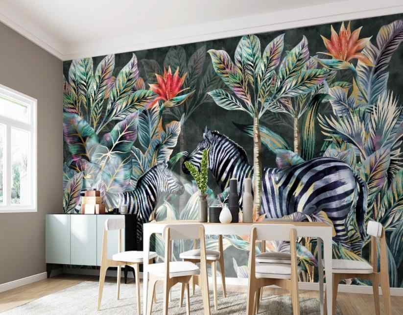 customize 3D photo wall paper Coconut tree zebra forest landscape Living room bedroom home decor wallpaper