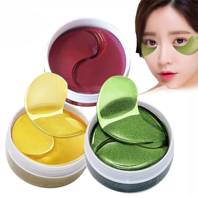 Efero 60pcs Manchas de Gel Olho Máscara de Colágeno Máscaras Folha Removedor de Rugas Olhos Sacos Olheiras Cuidados Com Os Olhos para o Rosto soro do cuidado Do Olho