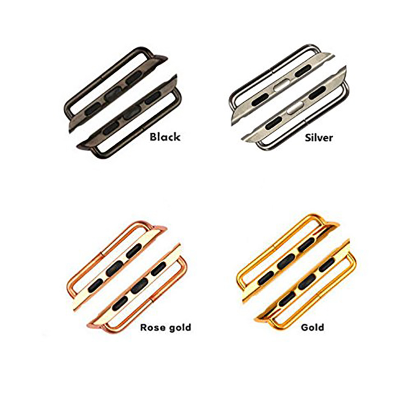 Seamless Metal Aluminum Connector Adapter For apple watch band 42mm 38mm 44mm 40mm iwatch strap series 4 3 2 1 in Watchbands from Watches