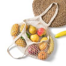 Przenośne zakupy worki siatkowe na torba z siateczką owoce warzywa zmywalne przechowywanie ekologiczna torebka bawełniana składana torba na zakupy tanie tanio CN (pochodzenie) Torby do przechowywania Folding Tkanina Z rolką Płaska Owalne Na rozmaitości Other Mesh Bag 14 Colors