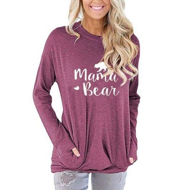 Фото женская футболка с длинным рукавом и буквенным принтом осенняя