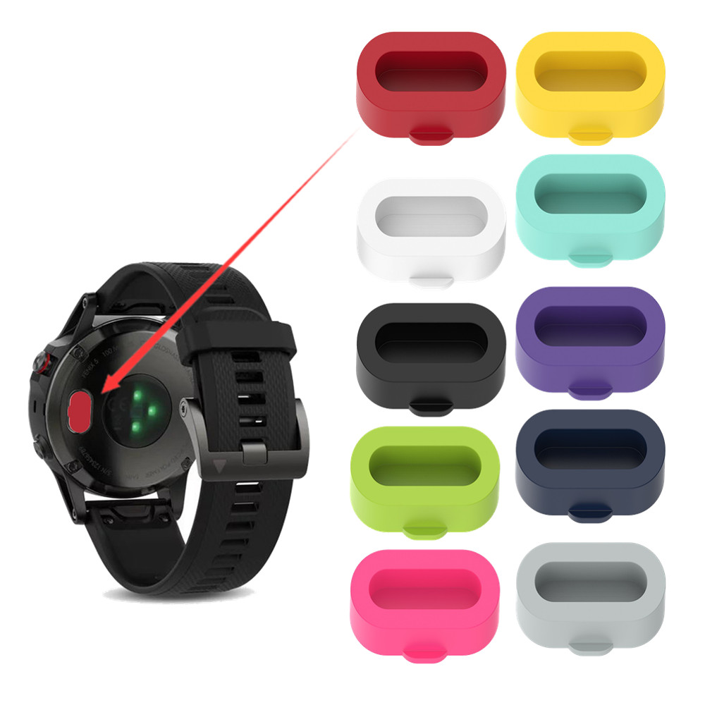 For Garmin Fenix5 5S 5X 6 6S 6X Charging Port Protective Case Cover Silicone Dust Plug For Vivoactive4 4S / 3 Vivomove3 3S Venu