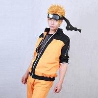 Japanese Anime Naruto Shippuden Uzumaki Naruto Cosplay Costume Ninja Clothes Naruto Jacket Pants Outift Halloween Costume