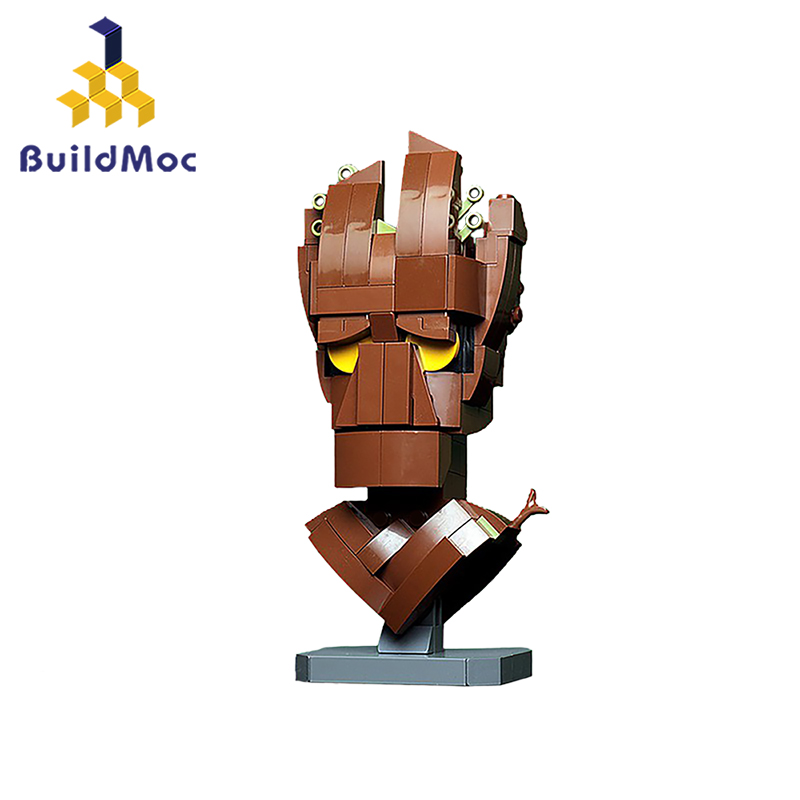 BuildMoc Flower Pot Baby Grooted Action Figures Tree Man Model Movie Collectible Building Blocks Kids Figure ToysToy For Kids
