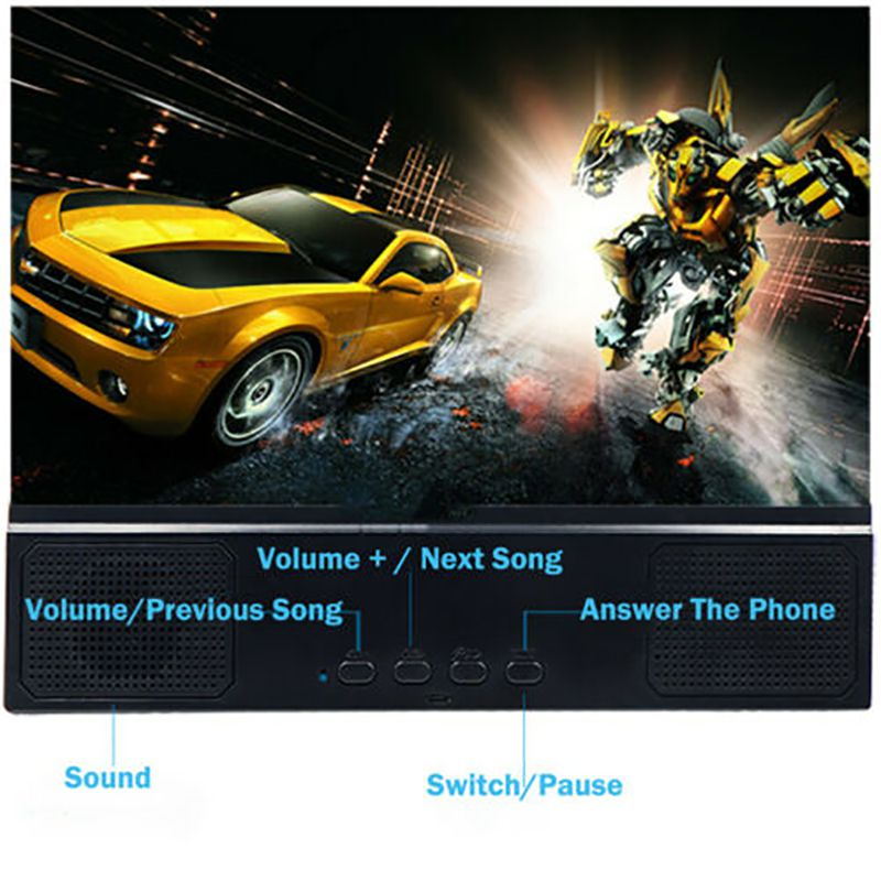 12 Inches Large Bluetooth Audio Screen Amplifier High Definition Optical Acrylic Lenses Mobile Phone Screen Amplifier in Phone Holders Stands from Cellphones Telecommunications