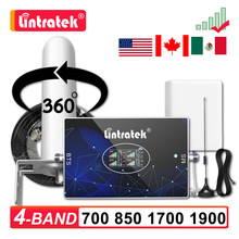 2g 3g 4g celular celular amplificador de sinal 700 850 1700 1900 gsm cdma b5 aws b4 peças b2 1900mhz repetidor kit reforço 70db agc