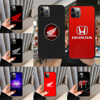 Luxury Car Logo HONDA Phone Case cover For iphone 5 5S 6 6S PLUS 7 8 11 12 mini X XR XS PRO SE 2020 MAX black waterproof pretty image