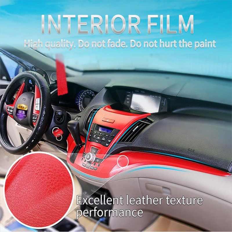 Voiture en cuir intérieur autocollants Auto intérieur tampon collant changement couleur Film Console centrale Films mode cuir vinyle autocollant