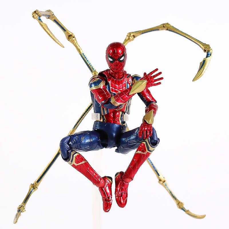 Mafex No. 081 Infinito Guerra Marvel Avengers Ferro Aranha SpiderMan Action Figure Collectible Modelo Toy