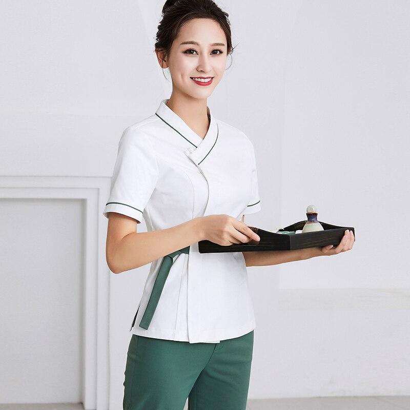 2020 Spa Uniform Medical Uniforms Scrub Clothes Set Dental Clinic Beauty Salon Nurse Uniform Horeca Clothes Waiter Clothes