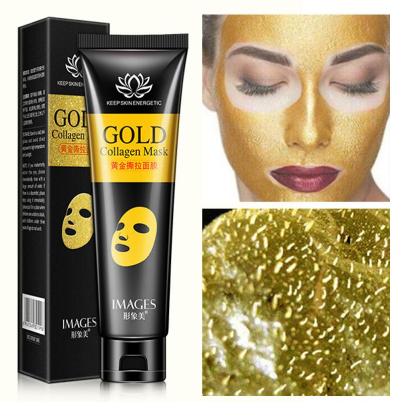 Anti Wrinkle Anti Aging Facial Mask Cleansing Gold Collagen Tear Off Mask Blackhead Remove Whitening Lifting Firming Skin TXTB1