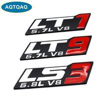 1Pcs Auto Styling Metall Autos Emblem Aufkleber Abzeichen Logos Aufkleber V8 LT1/LS3/LT9 Für Dodge Universal autos