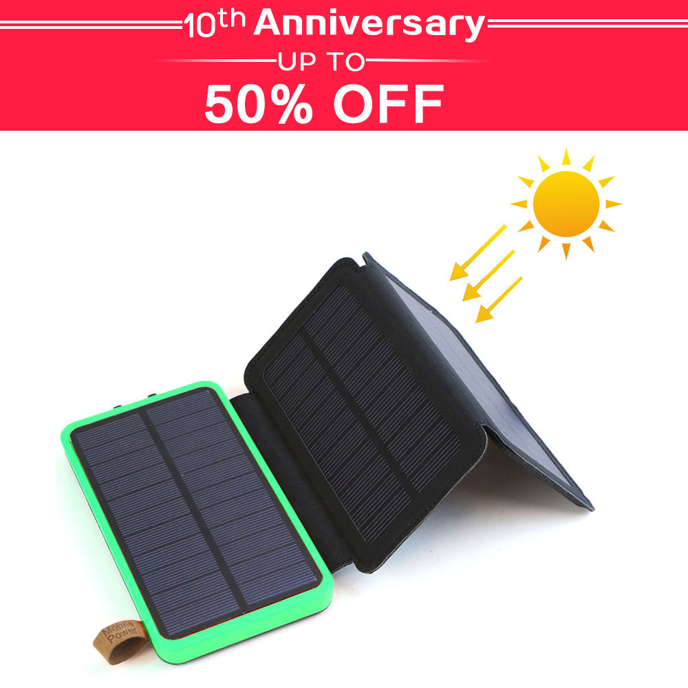 Power Bank Solar Power Bank Waterproof Phone External Battery Dual USB For Huawei IPhone Samsung IPad Xiaomi Sony Nokia Xiaomi